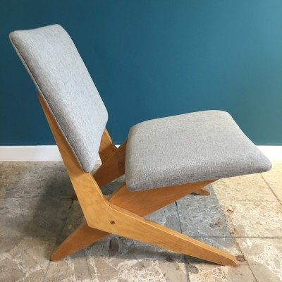 3 FB18 Scissor lounge chairs from the fifties by Jan van Grunsven for Pastoe
