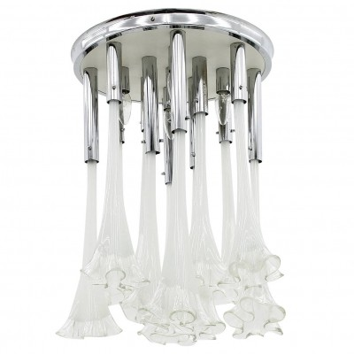 Flush Mount Chandelier ceiling lamp by Murano, 1960s