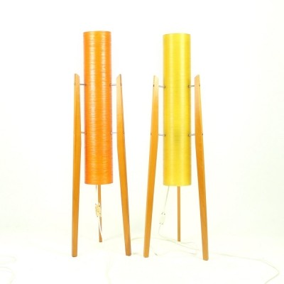 2 floor lamps from the fifties by unknown designer for unknown producer