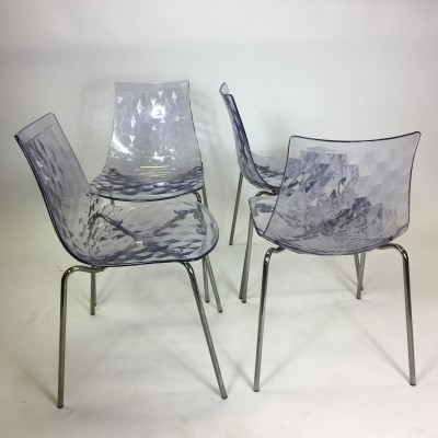 Set of 4 Ice dinner chairs by Calligaris, 1980s