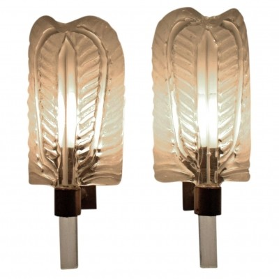 Pair of Wall Sconces by Barovier & Toso, 1950s