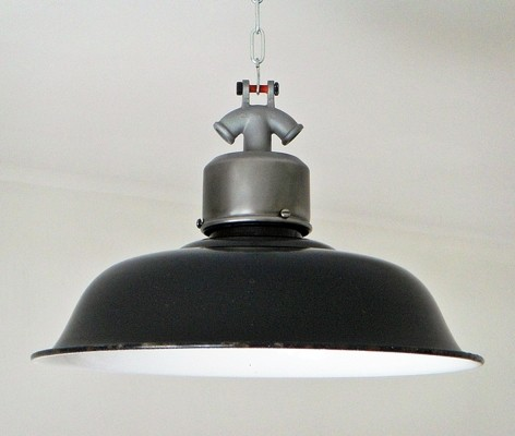 Workshop lamp in enameled steel, circa 1950