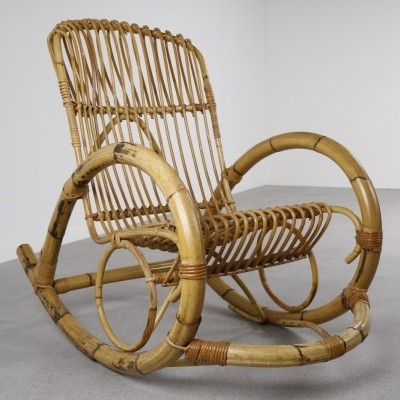 Rocking chair from the fifties by unknown designer for Rohé Noordwolde