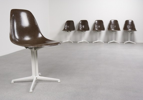 Set of 6 La Fonda dinner chairs by Charles & Ray Eames for Herman Miller, 1950s