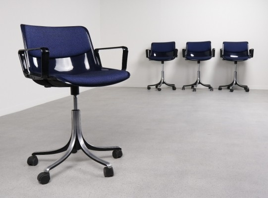 4 x office chair by Osvaldo Borsani for Tecno, 1970s