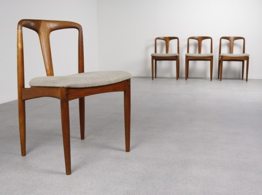 Set of 4 Juliane dinner chairs by Johannes Andersen for Uldum Møbelfabrik, 1950s