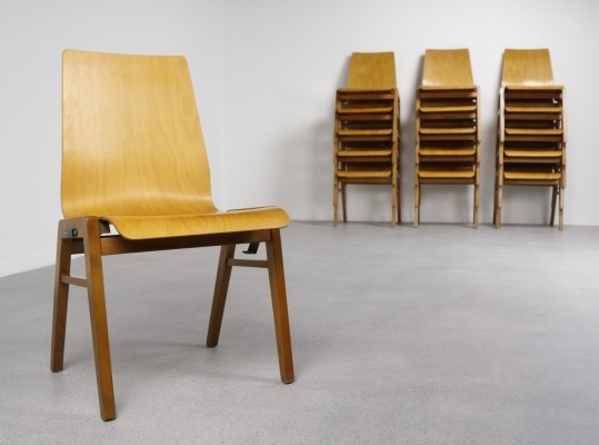 39 plywood stacking chairs from the fifties