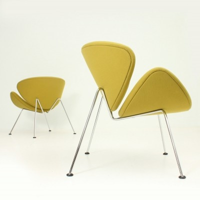 Pair of Orange Slice Chairs by Pierre Paulin