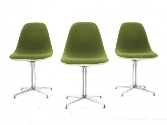 3 La Fonda dinner chairs from the sixties by Charles & Ray Eames for Vitra