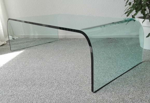 Ponte coffee table by Fiam Italy, 1980s