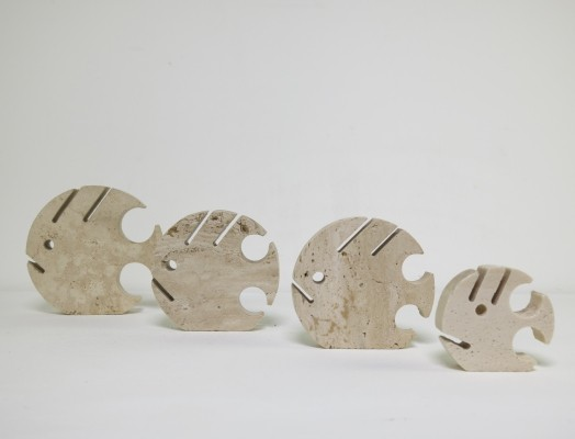Travertine fishes art from the sixties by Fratelli Mannelli for unknown producer