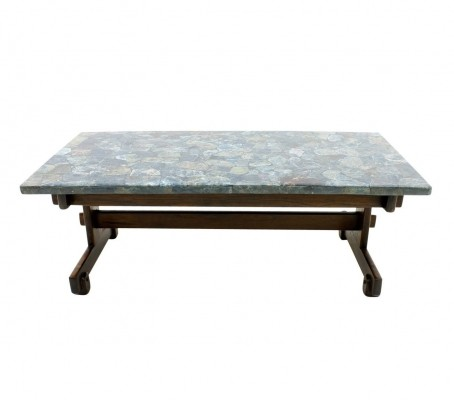 Rare Apatit Mosaik Coffee Table by Sergio Rodriques, 1950s
