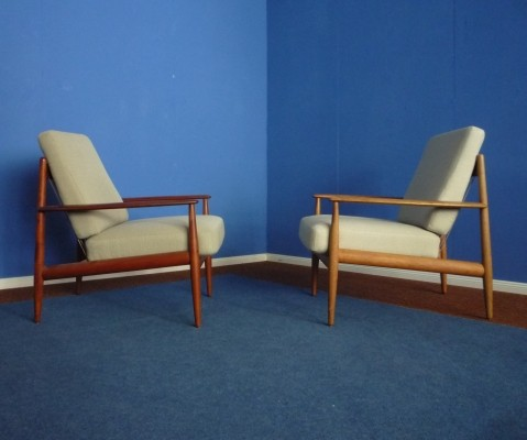Set of 2 arm chairs from the fifties by Grete Jalk for France & Daverkosen