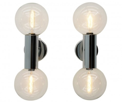 Pair of wall lamps by Motoko Ishii for Staff, 1970s