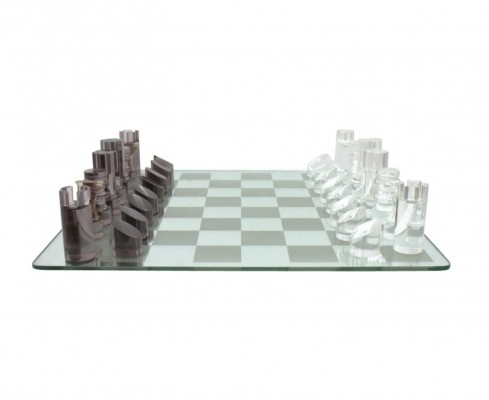Lucite Chess Game from the seventies by Michel Dumas for unknown producer
