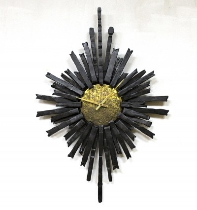 Brutalist clock from the fifties by unknown designer for unknown producer