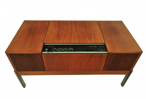 Stereomaster HiFi cabinet with tuner & record player from the seventies by unknown designer for His Masters Voice