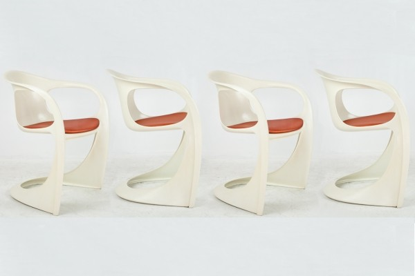 4 Casalino dinner chairs from the seventies by Alexander Begge for Casala
