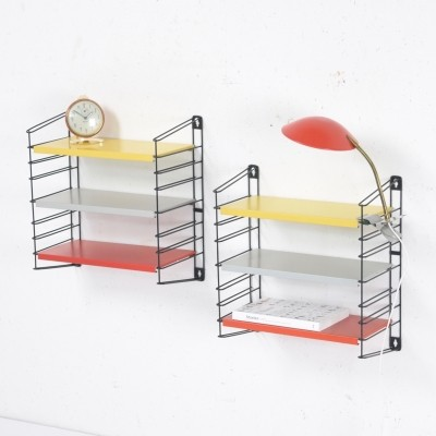 Double mini wall unit by A. Dekker for Tomado Holland, 1950s