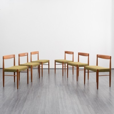 Set of 6 dinner chairs by Henry W. Klein for Bramin, 1960s