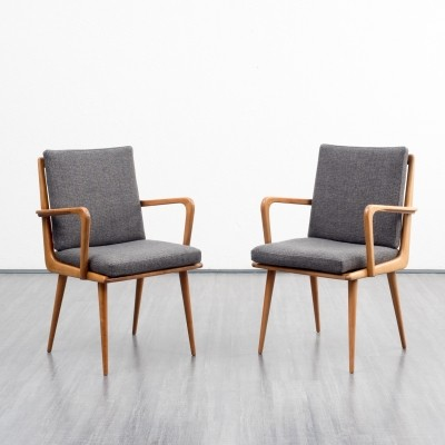 2 x arm chair by Hans Mitzlaff for Eugen Schmidt Soloform, 1950s