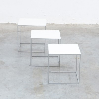 PK71 Set of Nesting Tables by Poul Kjaerholm for E. Kold Christensen, 1957