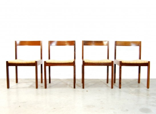 Set of 4 vintage dinner chairs, 1970s