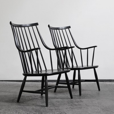 Set of 2 lounge chairs from the sixties by Lena Larsson for Pastoe