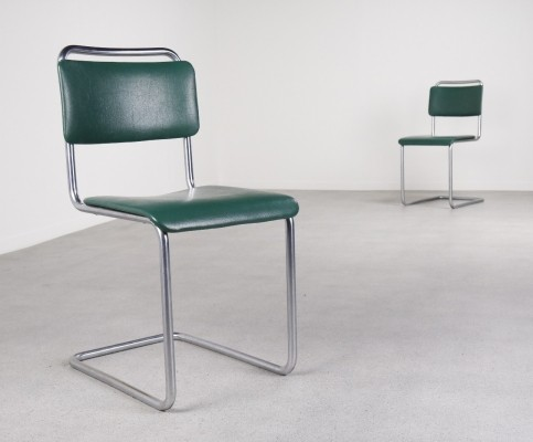 2 x model 101 dinner chair by W. Gispen for Gispen, 1950s