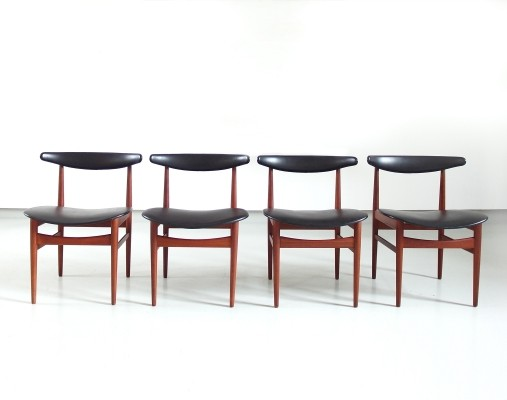 4 x Poul Hundevad dining chair, 1960s