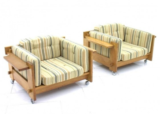 Set of 2 lounge chairs from the sixties by Yngve Ekström for Swedese