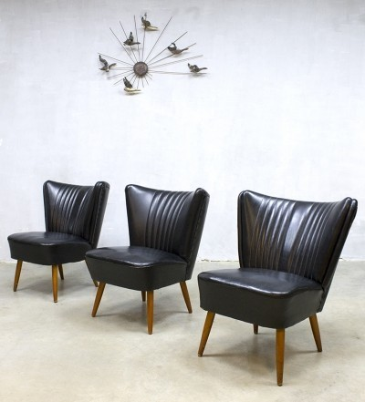 3 Cocktail lounge chairs from the fifties by unknown designer for unknown producer