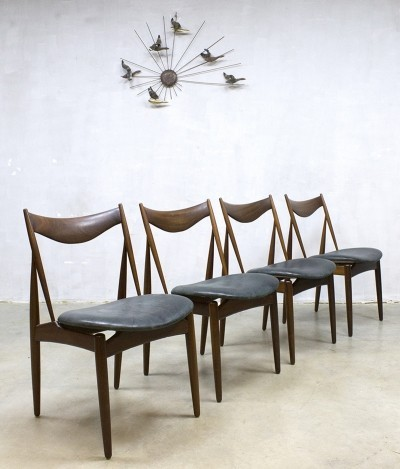 Set of 4 dinner chairs by Kurt Østervig for Bramin, 1960s
