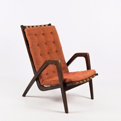 Lounge chair by Jan Vaněk for ÚĽUV Praha, 1950s