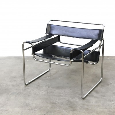 Wassily B3 lounge chair from the twenties by Marcel Breuer for unknown producer