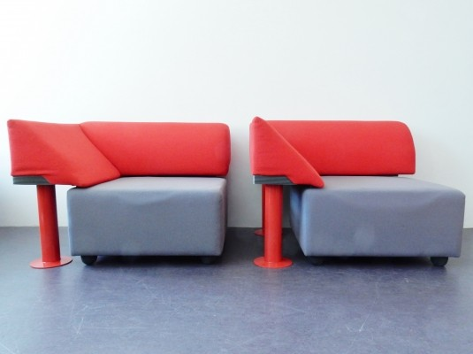 2 x 960 Quadrio lounge chair by Michael McCoy for Artifort, 1980s