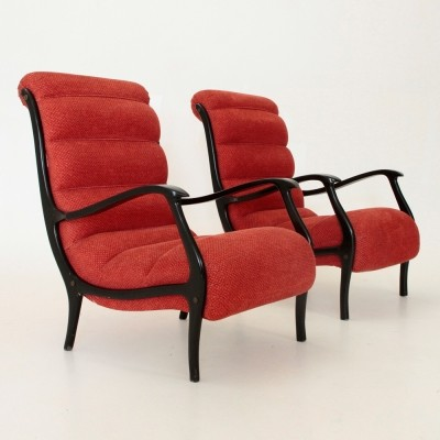 Pair of Mitzi arm chairs by Ezio Longhi for Elam, 1950s