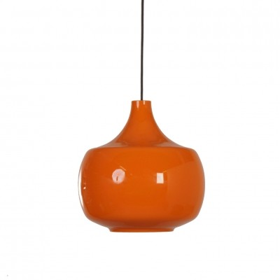 Orange Murano Pendant Lamp by Paolo Venini for Venini & C, 1960s Italy