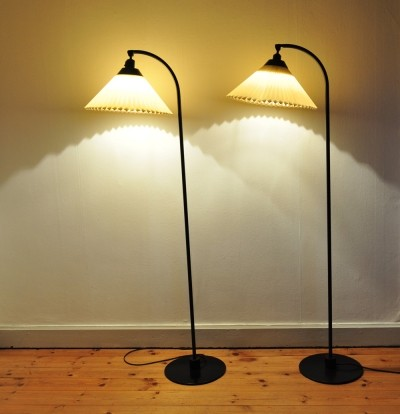 2 x Model 368 floor lamp by Flemming Agger for Le Klint, 1970s