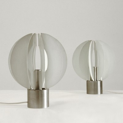 Set of 2 desk lamps from the seventies by unknown designer for unknown producer