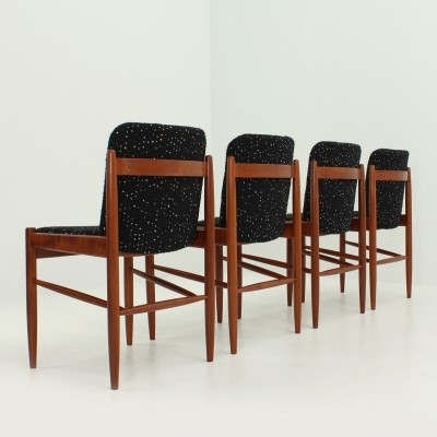 Set of Four Danish Dining Chairs, 1960s