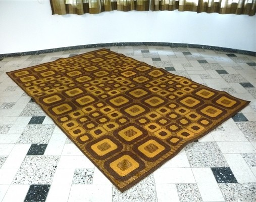 Magura - Op-Art Rug with Graphic Pattern - Germany 1960s