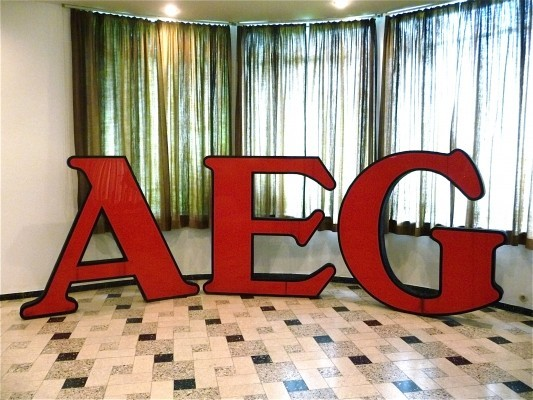 AEG - Company Logo Letters by Peter Behrens for AEG Lichttechnik, 1920s