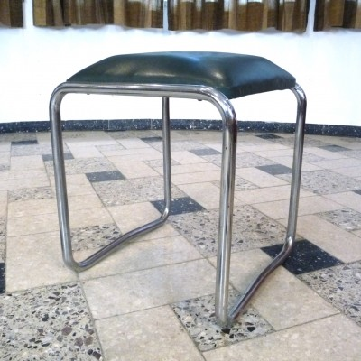 Stahlrohr / Steel Tube Furniture stool by Mauser from the Club Möbel Serie, 1930s