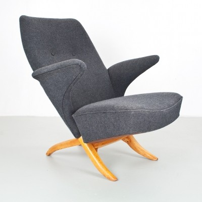 Theo Ruth Penguin chair for Artifort in dark grey