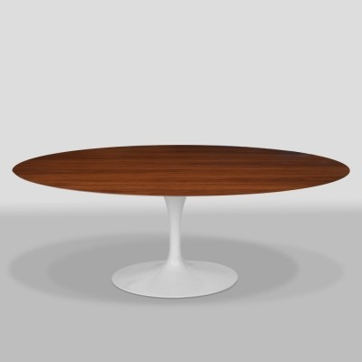 Oval Walnut dining table by Eero Saarinen for Knoll International, 1950s