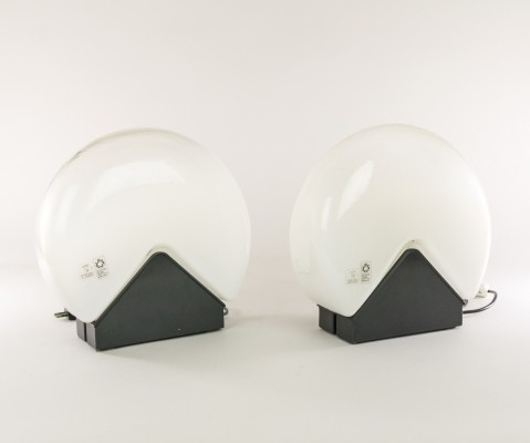 Pair of desk lamps by Roberto Pamio for Leucos, 1970s