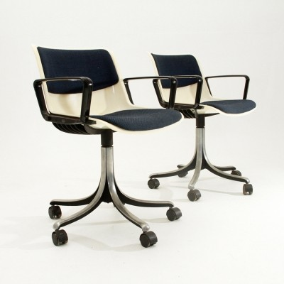 Set of 2 Modus office chairs from the seventies by Centro Progetti Tecno for Tecno