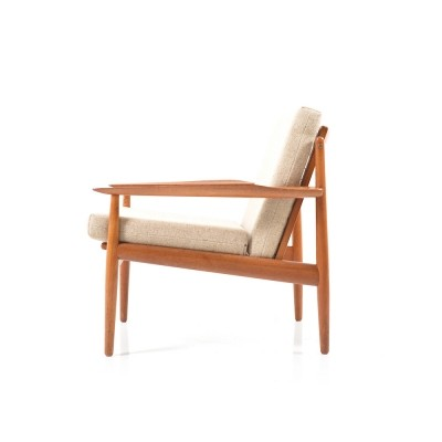 Early Teak Wooden Easy Chair by Arne Vodder, 1960s