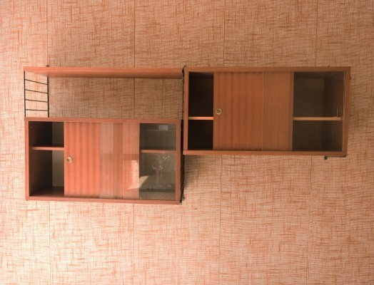 Wall unit by Nils Strinning for String Design AB, 1940s